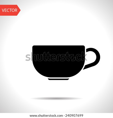 kitchen icon of cup - stock vector
