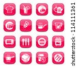 Kitchen Icon Set for web and mobile. All elements are grouped. - stock vector