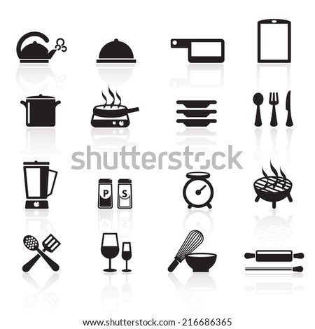 Kitchen Icons Vector files. - stock vector