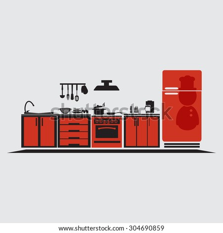 Kheat39s portfolio on shutterstock for Interior design kitchen symbols