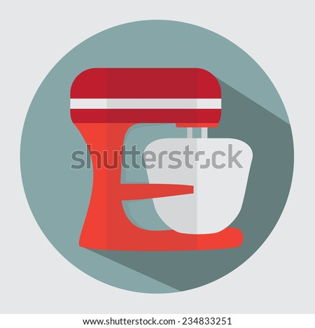 Kitchen machine icon - stock vector
