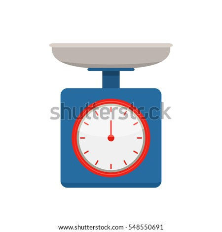 Kitchen scales. flat vector illustration isolated on white background