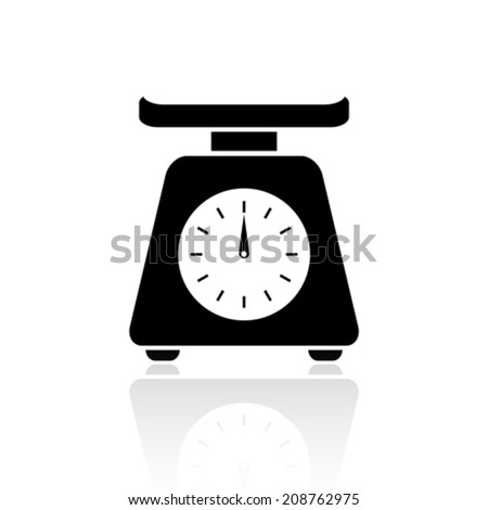 Kitchen scales icon - stock vector