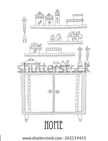 Kitchen set. Design elements of kitchen. - stock vector