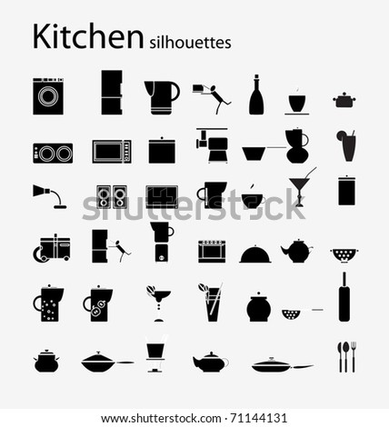 Kitchen  silhouette - stock vector