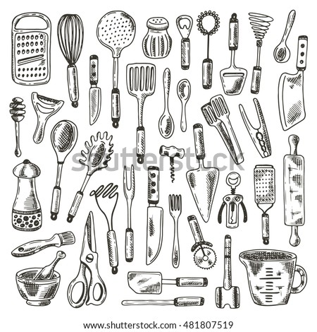 Kitchen Utensils Stock Images, Royalty-Free Images & Vectors