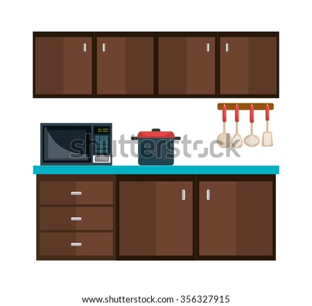 Kitchen utensil and dishware graphic design, vector illustration