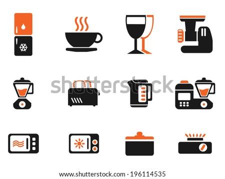 Kitchen Utensils Icon Set - stock vector