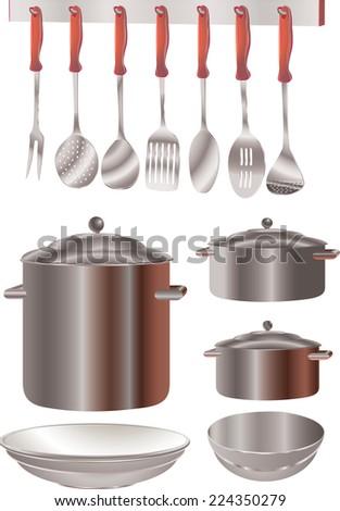 Kitchen Utensils - Illustration. - stock vector