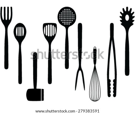 Kitchen Utensils Wallpaper kitchen utensils hanging stock images, royalty-free images