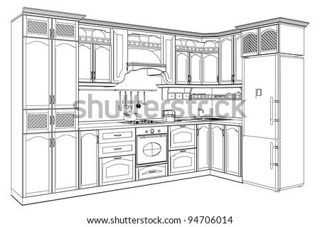 Kitchen Vector 08 - stock vector