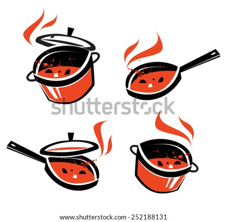 kitchen vector logo design template. cooking or food icon. - stock vector