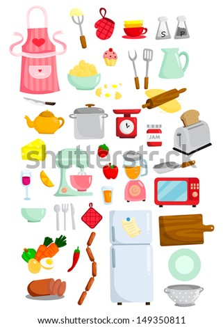 Kitchen Vector Set - stock vector