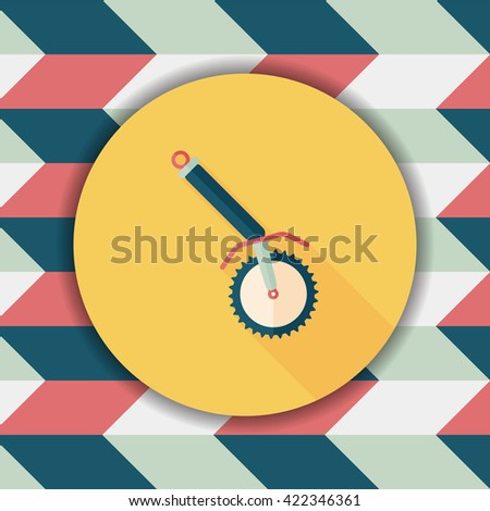 kitchenware corkscrew flat icon with long shadow,eps10 - stock vector