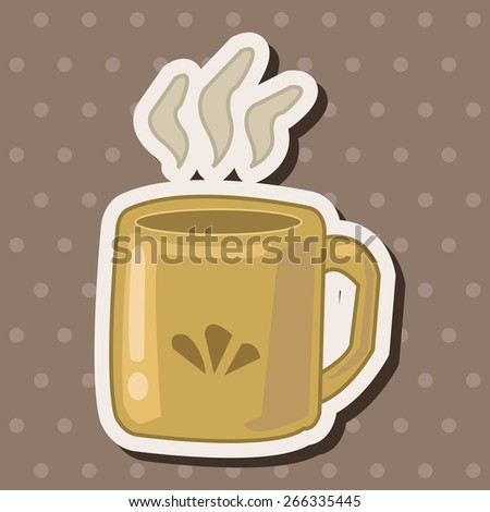 kitchenware cup theme elements vector,eps - stock vector