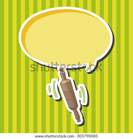 kitchenware rolling pin theme elements vector,eps - stock vector