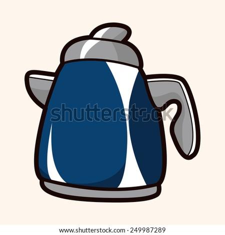 kitchenware tea pot theme elements vector,eps - stock vector