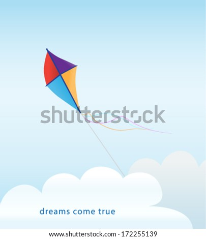 kite above clouds background