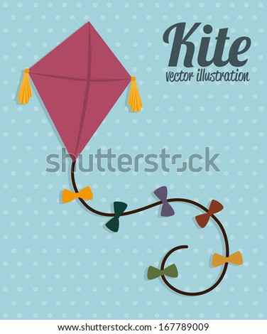 kite design over blue background vector illustration - stock vector
