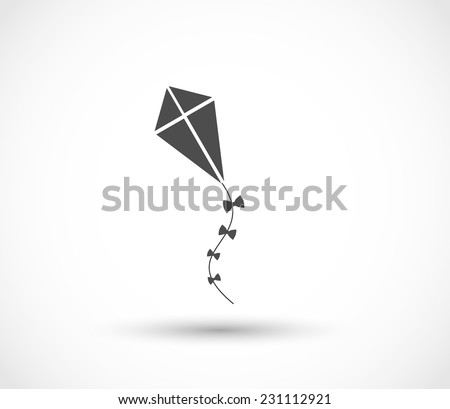 Kite icon vector - stock vector