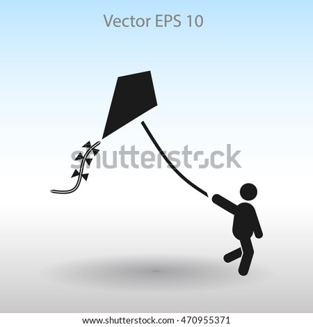 kite vector icon