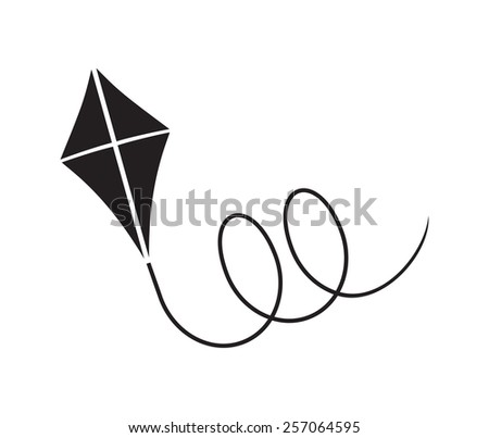 Kite vector illustration - stock vector