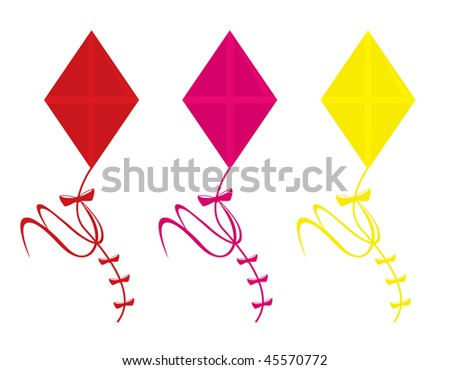 Kites isolated - vector version