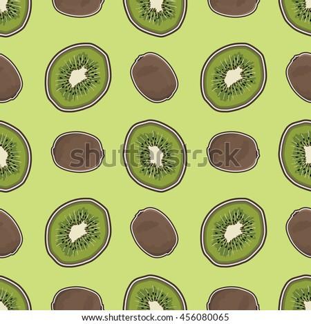 kiwi fruit pattern. kiwi fruit seamless. kiwi fruit background. kiwi fruit print.