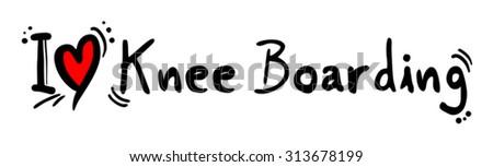 Knee Boarding love - stock vector