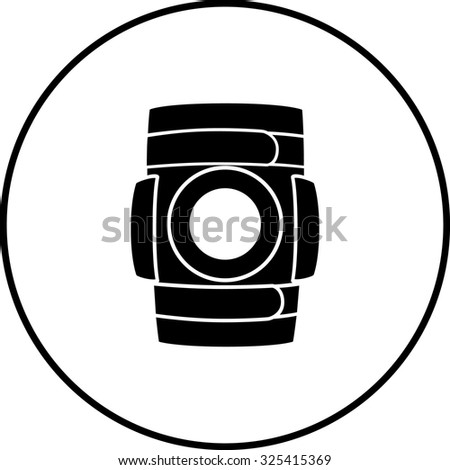 knee brace symbol - stock vector