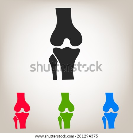 Knee joint icon - stock vector