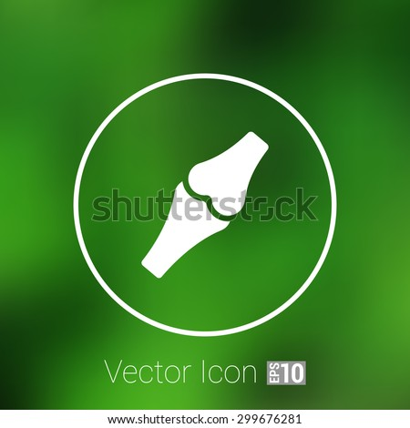 Knee joint sign vector illustration icon bone health human medical. - stock vector
