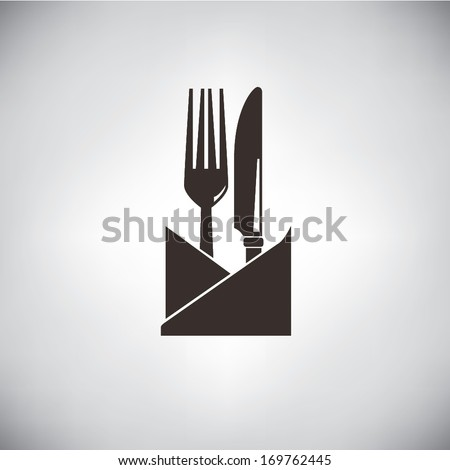 knife and fork - stock vector