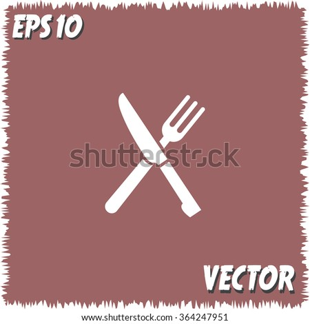 knife and fork menu vector icon