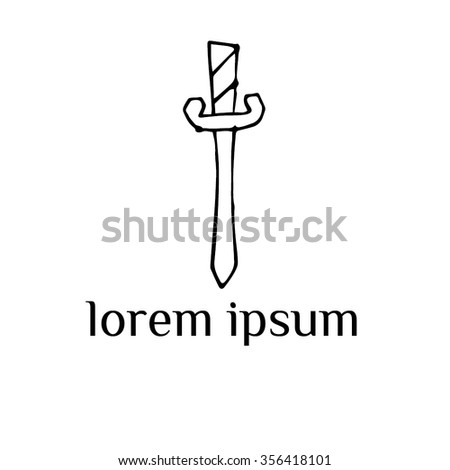 Knife (dagger) vector logo (sign, symbol, illustration, icon) - stock vector