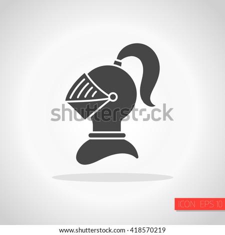 Knight helmet icon - stock vector