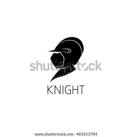 Knight Helmet Logo Graphic Design Concept Stock Vector 483653704 ...