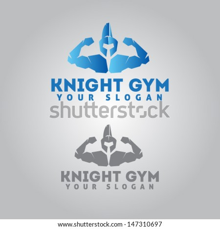 Knight Icon for Gym Illustration Vector