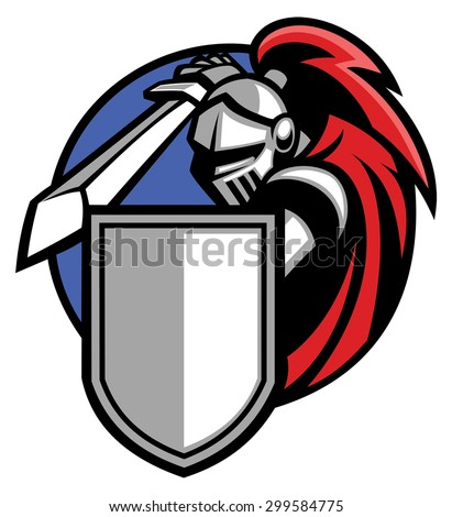 knight mascot - stock vector
