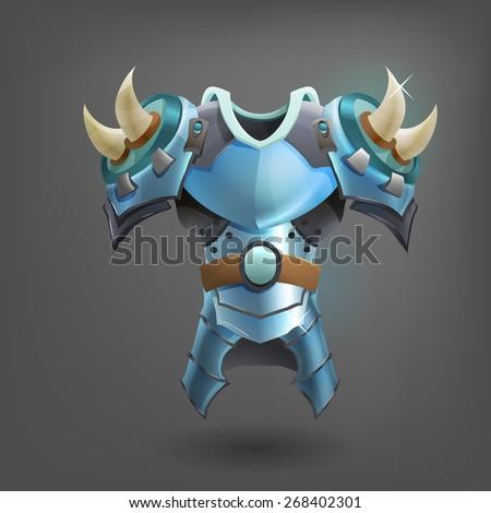 Knight's steel armor. Vector illustration. - stock vector