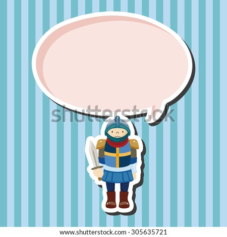 knight theme elements - stock vector