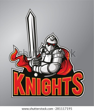 Knights - stock vector