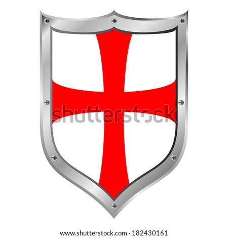 Knights Templar shield on white background. - stock vector