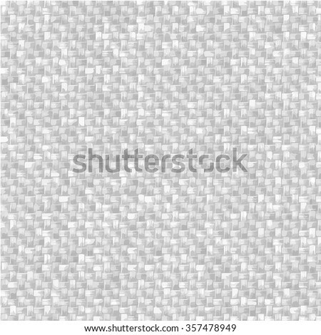 Knitted fabric texture. Grey and white textured grid background. - stock vector