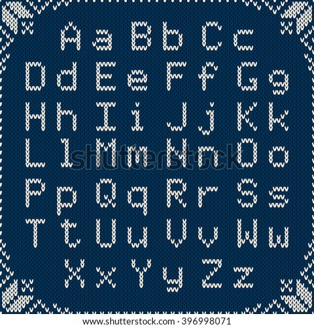 Knitted Latin Alphabet On Seamless Background Stock Vector ...
