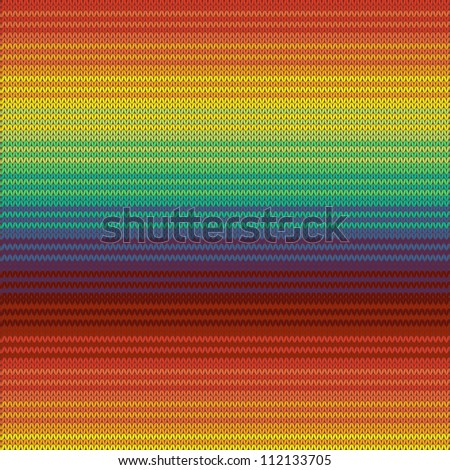 Knitted mexican blanket seamless pattern, vector - stock vector