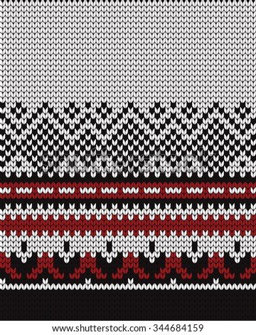 Knitted seamless border