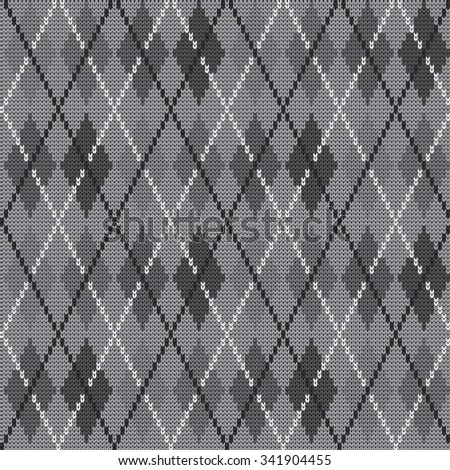 Knitted seamless pattern argyle