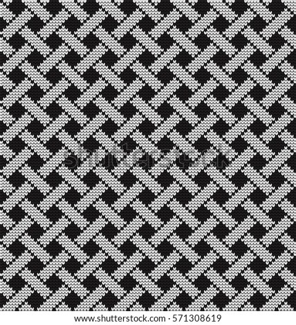 Knitted seamless pattern hounds-tooth