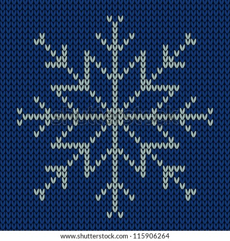 Knitted Snowflake Seamless Background Stock Vector Royalty Free